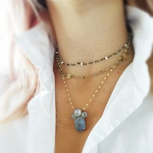 Handmade Set of Three Gemstone Necklaces